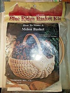 Blue Ridge Basket Kit Melon 8 X 9 X 8 in. NIP Commonwealth Mfg.1985 NY EXC