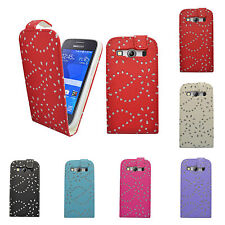 CASE FOR SAMSUNG GALAXY ACE 4 GLITTER FLIP PU LEATHER POUCH PHONE COVER