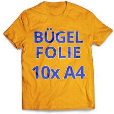 10 Blatt DIN A4 T-Shirt Transferfolie Bügelfolie Folie für dunkle Stoffe