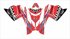 POLARIS IQ RACER 440 600 800 IQR IQRR RR HOOD TUNNEL KIT WRAP DECAL xcr red