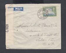 Bermuda 1942 Wwii Censored Cover Hamilton To Philadellphia Pennsylvania