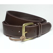 Timberland Men Leather Brown Belt Size 36 Made in INDIA 35mm Wide