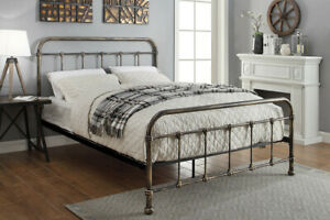 Victorian Style Brushed Brass Metal Bed Frame Single Double King Size    BSD