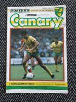Norwich v Tottenham Spurs 1987 Programme 10/10/87! FREE UK POSTAGE! LAST ONE!!!