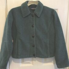 Patagonia Synchilla Womens Teal Green Button Front Jacket Size Small