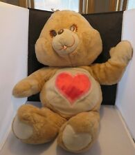 Vintage Jumbo Care Bear Tenderheart Bear - nice, 1984 Kenner - 30+ inches