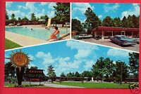 FOLKSTON GA TAHITI MOTEL & RESTAURANT  SIZEAS  TALLEY ASHLAND OH 1967  POSTCARD