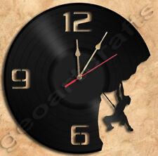 Climbing Wall Clock Vinyl Record Clock