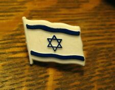 Israel Flag Lapel Pin - Vintage Israeli State Country Souvenir National Flag Pin
