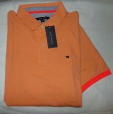 NWT MENS Tommy Hilfiger S/S Polo Shirt~Slim Fit~Orange~XL