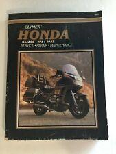 Clymer Honda 1984-1987 Motorcycle Manual GL1200 Repair Maintenance