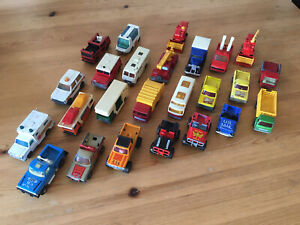 Job Lot Of Vintage Toy Cars Matchbox Superfast Collection Bundle vehicles X 25