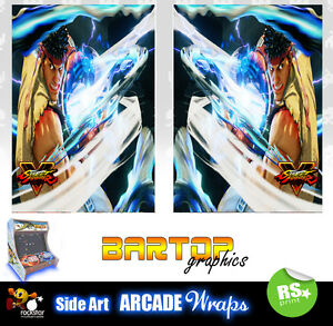 Street Fighter 5 Ryu sides Bartop Sides Overlay Artwork Graphic Stickers