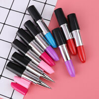 1pc Lipstick Pen Cartoon BallPoint Pen Novelty Pen School Office Supplies OS