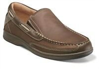 Florsheim Mens Stone Lakeside Slip Casual Leather Boat Deck Loafer Trending Shoe