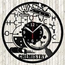 Chemisty Vinyl Record Wall Clock Decor Handmade 2580
