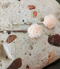 Mothers Day Hair Clips soft peach bobby pins flower hairclips