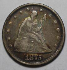 1875 Twenty Cent Piece 20C UI5