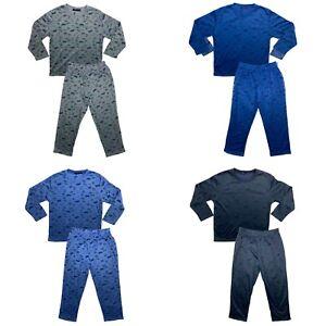 Boys Kids Pyjamas Long Sleeve Top Bottom Set Nightwear PJs Cotton Football Cup