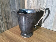 Vintage Early American Pitcher W/ Ice Guard International Silver Co 982, J5