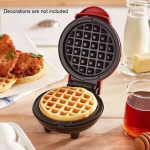HI ~MINI BELGIAN WAFFLE MAKER Non Stick Individual Paninis Breakfast Kitchen