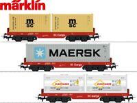 Märklin H0 29453-2 Containertragwagen-Set der DB AG 3-teilig - NEU