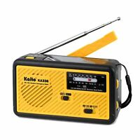 Kaito KA336 Emergency AM FM NOAA Weather Alert Radio with Solar and Crank