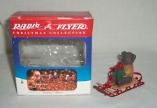 1999 Classic Radio Flyer Teddy Bear Riding a Snow Sled Christmas Tree Ornament