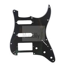 Black 3Ply HSS Pickguard Plate For Fender Stratocaster Strat ST Electric Guitar