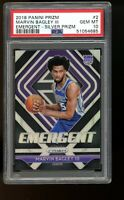 2018 Panini Prizm SILVER Emergent #2 Marvin Bagley Kings Rookie Card RC PSA 10
