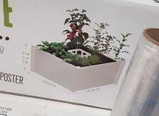 Vita Keyhole Composting Garden Raised Bed 4x4 ft. White Vinyl Composter Planter