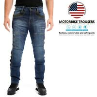 Mens Motorcycle Protective Biker Pants Slim fit Stretch Denim Trousers Jeans US
