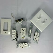 Electrical Outlets and Toggle Light Switches Assorted Bundle Electrician