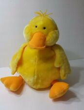 Large Plush GUND Yellow Duck Scrambles Stuffed Animal # 5284 Soft Child Toy Soft