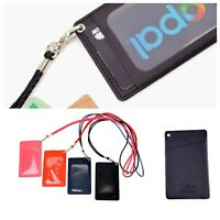 Twin Pocket ID Business Opal Lanyard Card Holder Neck Strap Security Pass Badge