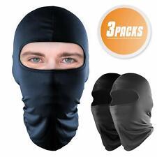 3 paquetes Pasamontañas Máscara facial completa protección UV Capucha a Prueba de Viento Sol para hombres mujeres