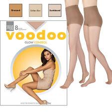 Voodoo Core Glow Control Sheers 8 Denier Waist High Stockings Tights Pantyhose