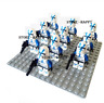 10 Pcs Blue Ghost Clone Trooper Minifigures - Space War Captain Rex Lego MOC