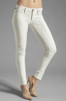 CITIZENS OF HUMANITY Logan Low Rise Skinny Denim Jeans Ivory White 24 $228 #30
