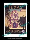 OLD LARGE HISTORIC PHOTO OF 1936 TEXAS USA STATE CENTURY CELEBRATIONS POSTER 3