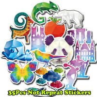 35Pcs Cool Cartoon Animals Skateboard Sticker Graffiti Luggage Laptop Decal Bomb