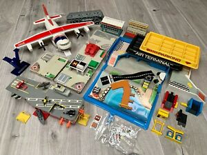 Micro Machines Galoob Playset Bundle Spares Cargo Plane Aircraft Carrier Planes