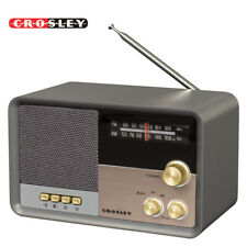 NEW Crosley CR3036D-CL Tribute AM/FM Radio with Built-In Bluetooth - Charcoal