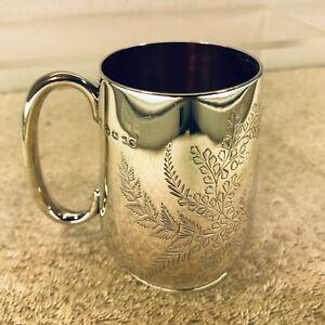 Victorian Solid Silver Christening Mug, Josiah Williams, EXETER 1882