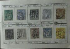 Lote 10 sellos stamp France Republica usados antiguos yvert 75,78,83...