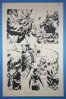 Unity #24 page 14 Original Art Valiant Comics 2015 Armor Hunters X-O Manowar