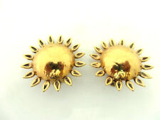 BOUCLES D'OREILLE FORME SOLEIL SIGNEES ROSSI VINTAGE FRENCH EARRINGS