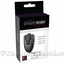 ALCOHOL BREATH TESTER - Portable Handy Keychain Breathalyser LED Flashlight *NEW