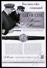 1958 Jaeger LeCoultre Master Mariner watch SS Cristoforo Colombo Captain pic ad