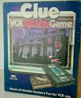 Vintage Clue VCR Mystery Game 1985 Nostalgic Family Board Game Parker Brothers
